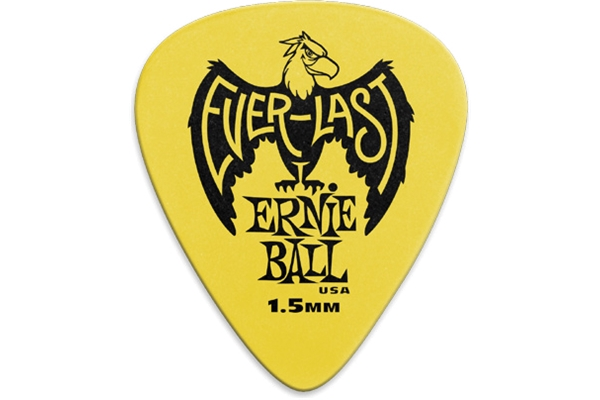 Ernie Ball - 9195 Plettri Everlast Yellow 1.5mm Busta da 12