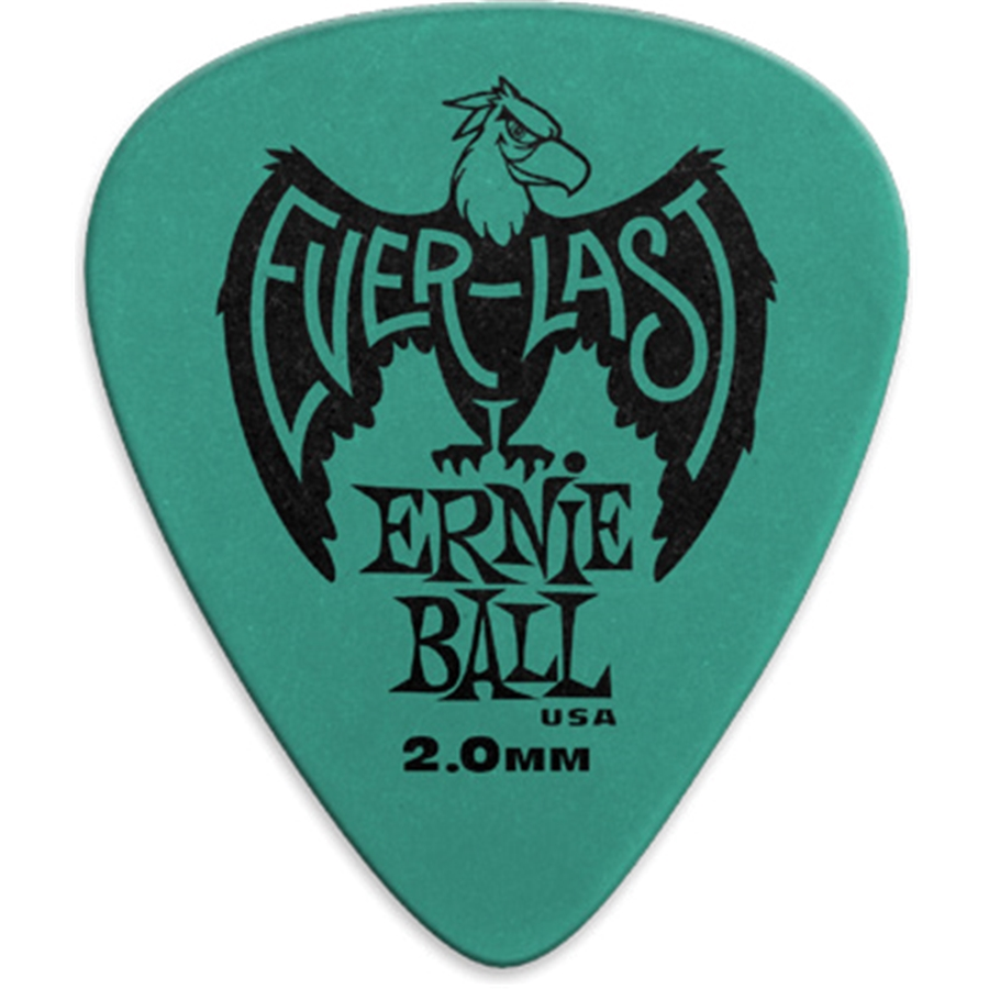 9196 Plettri Everlast Teal 2.0mm Busta da 12
