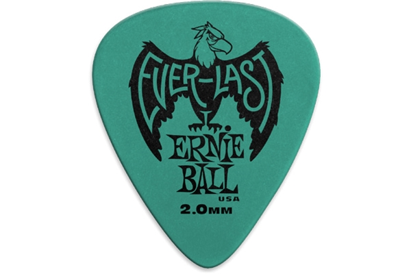 Ernie Ball - 9196 Plettri Everlast Teal 2.0mm Busta da 12