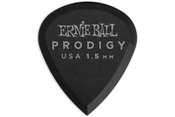 Ernie Ball - 9200 Plettri Prodigy Mini Black 1,5mm Busta da 6