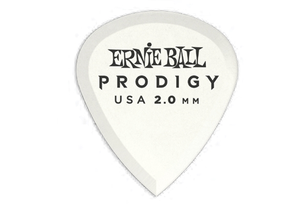 Ernie Ball - 9203 Plettri Prodigy Mini White 2,0mm Busta da 6