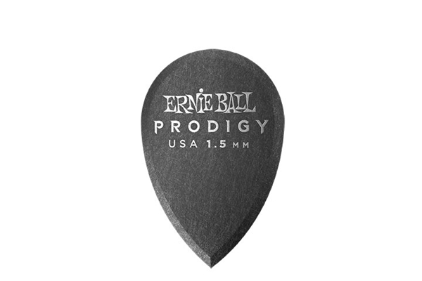 Ernie Ball - 9330 Plettri Prodigy Teardrop Black 1,5mm Busta 6