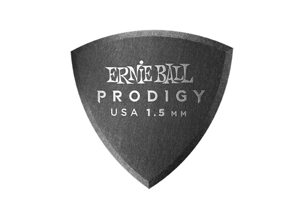 Ernie Ball - 9331 Plettri Prodigy Shield Black 1,5mm Busta 6