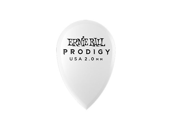 Ernie Ball - 9336 Plettri Prodigy Teardrop White 2,0mm Busta 6