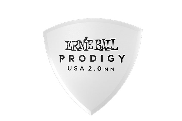 Ernie Ball - 9337 Plettri Prodigy Shield White 2,0mm Busta 6