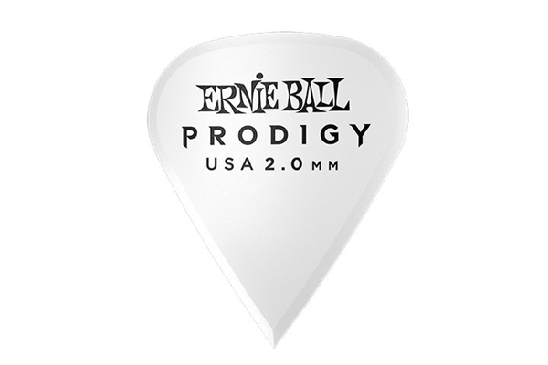 Ernie Ball - 9341 Plettri Prodigy Sharp White 2,0mm Busta 6
