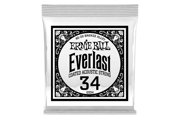 Ernie Ball - 0334 Everlast Coated 80/20 Bronze .034