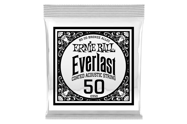 Ernie Ball - 0350 Everlast Coated 80/20 Bronze .050