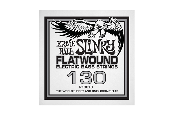 Ernie Ball - 0813 Cobalt Flatwound Bass .130