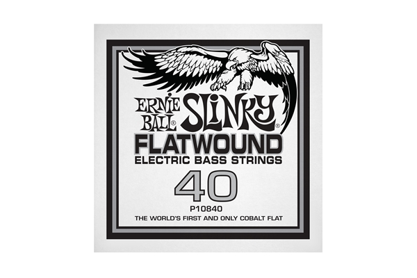 Ernie Ball - 0840 Cobalt Flatwound Bass .040