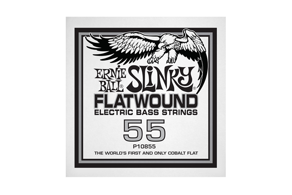 Ernie Ball - 0855 Cobalt Flatwound Bass .055