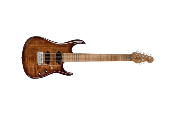 Sterling by Music Man - Petrucci Guitar JP157 7 Corde Island Burst