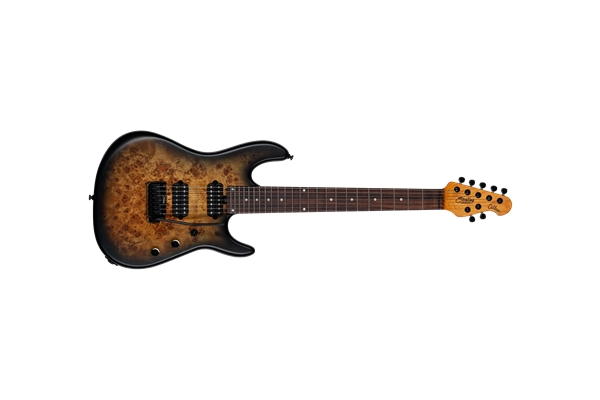 Sterling by Music Man - Richardson Cutlass HH 7 Corde Poplar Burl