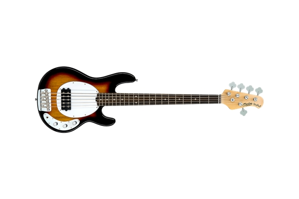 Sterling by Music Man - Stingray Classic Ray25CA Basso 5 Corde 3-Tone Sunburst