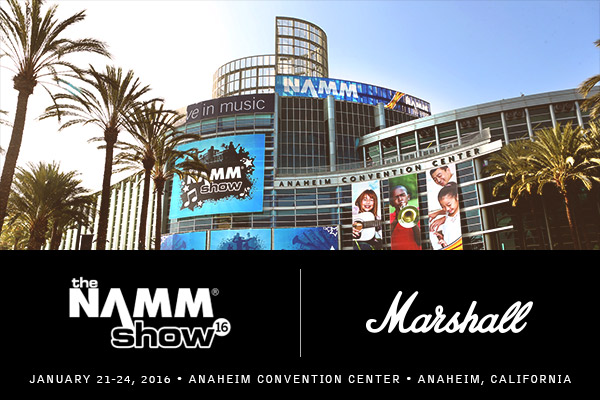 MARSHALL al Winter Namm Show 2016