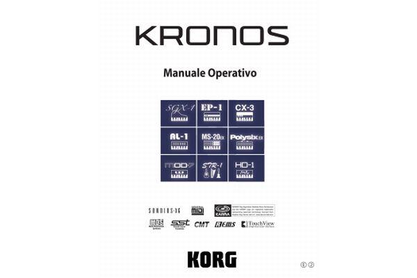... download del manuale utente in italiano della Workstation Korg KRONOS