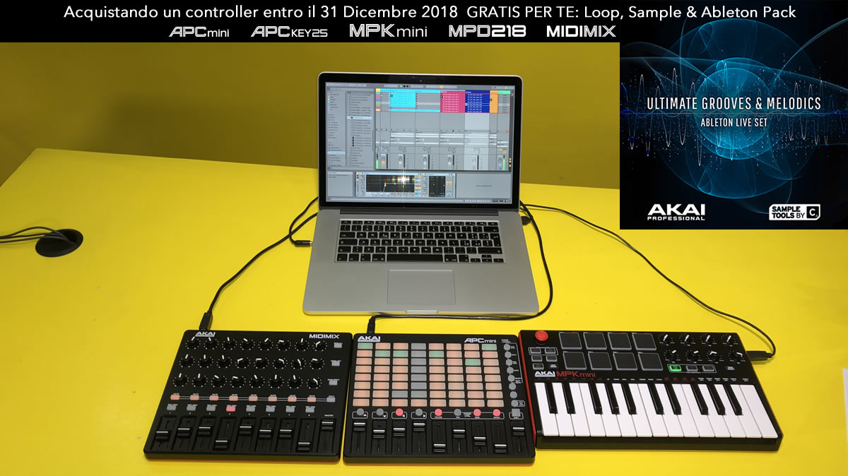 Fino al 31 Dicembre 2018, acquistando un controller MPK Mini MK II, MPK Mini MKII LE White, MPD 218, APC Mini, APC Key o MIDIMix riceverai una libreria di suoni e samples prodotta dalla Sample Tools by CR2, un team di sound designer di nota fama, leader n