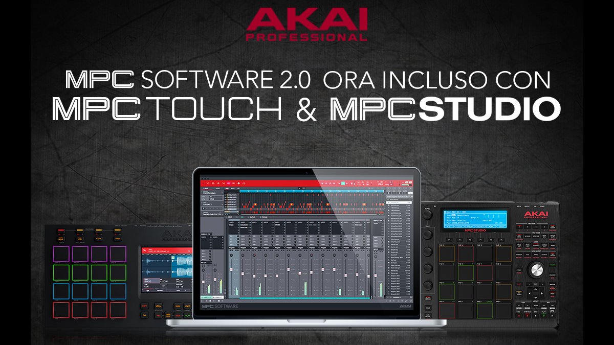 MPC SOFTWARE 2.0 PER GLI HARDWARE MPC STUDIO BLACK E MPC TOUCH