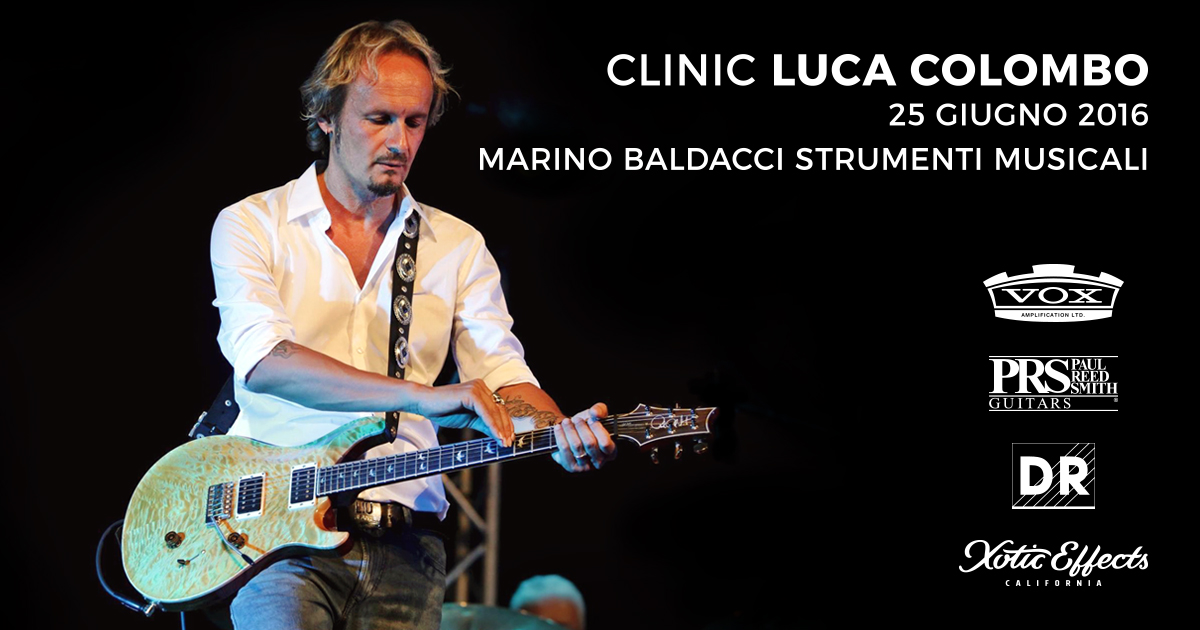 Clinic di Luca Colombo e PRS Guitars