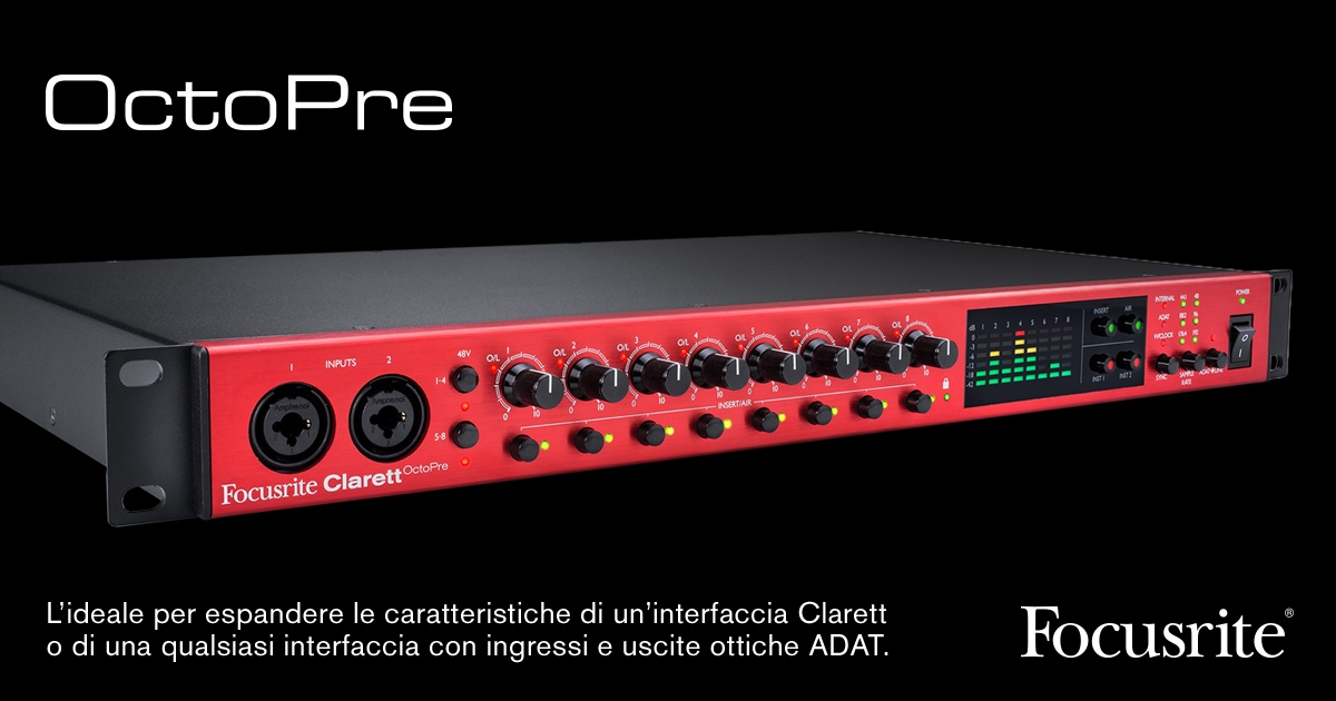 focusrite_octopre_interfaccia