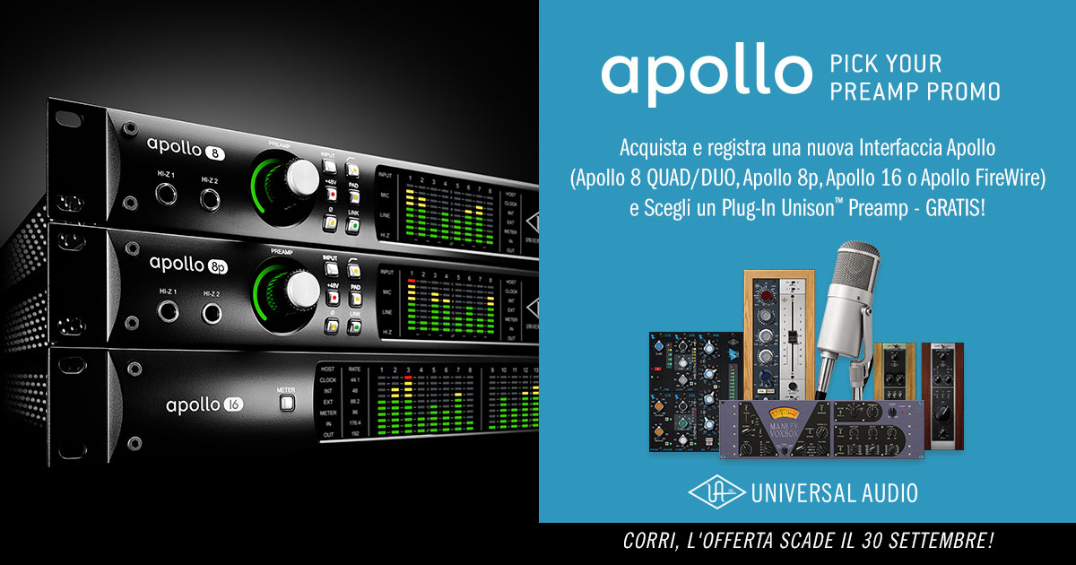 "Apollo ""Pick Your Preamp"" Promo"