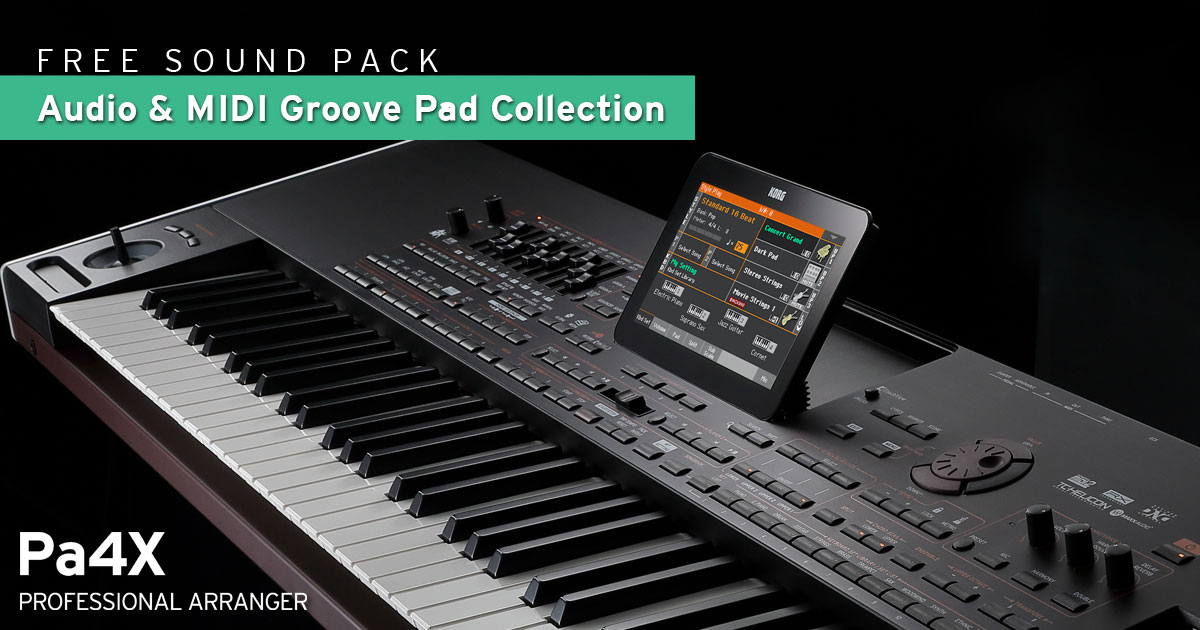 Eko Music Group pubblica la Groove Pad Collection per KORG Pa4X