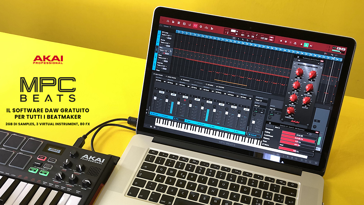 AKAI PROFESSIONAL MPC BEATS IL SOFTWARE DAW GRATUITO