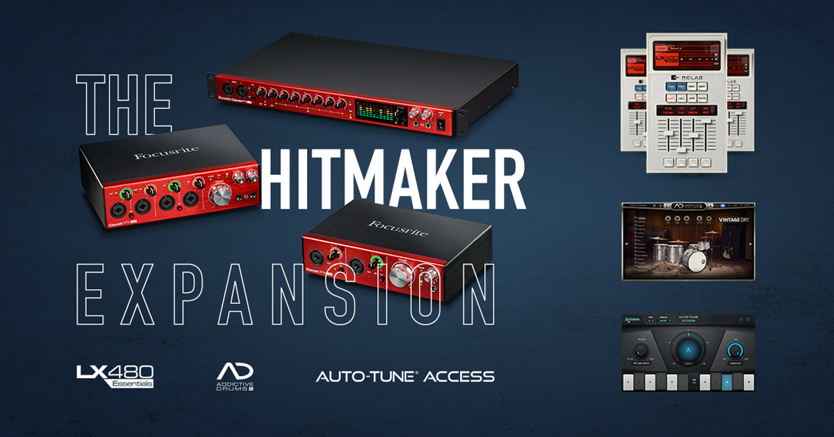 Focusrite Clarett Hitmaker Expansion: plug-in GRATIS