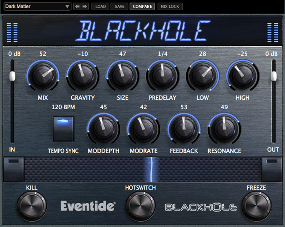 EVENTIDE BLACKHOLE PLUG-IN DI RIVERBERO