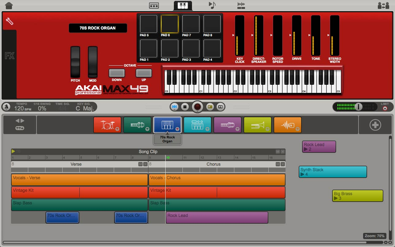 AKAI PROFESSIONAL MAX49 E AIR MUSIC IGNITE SOFTWARE
