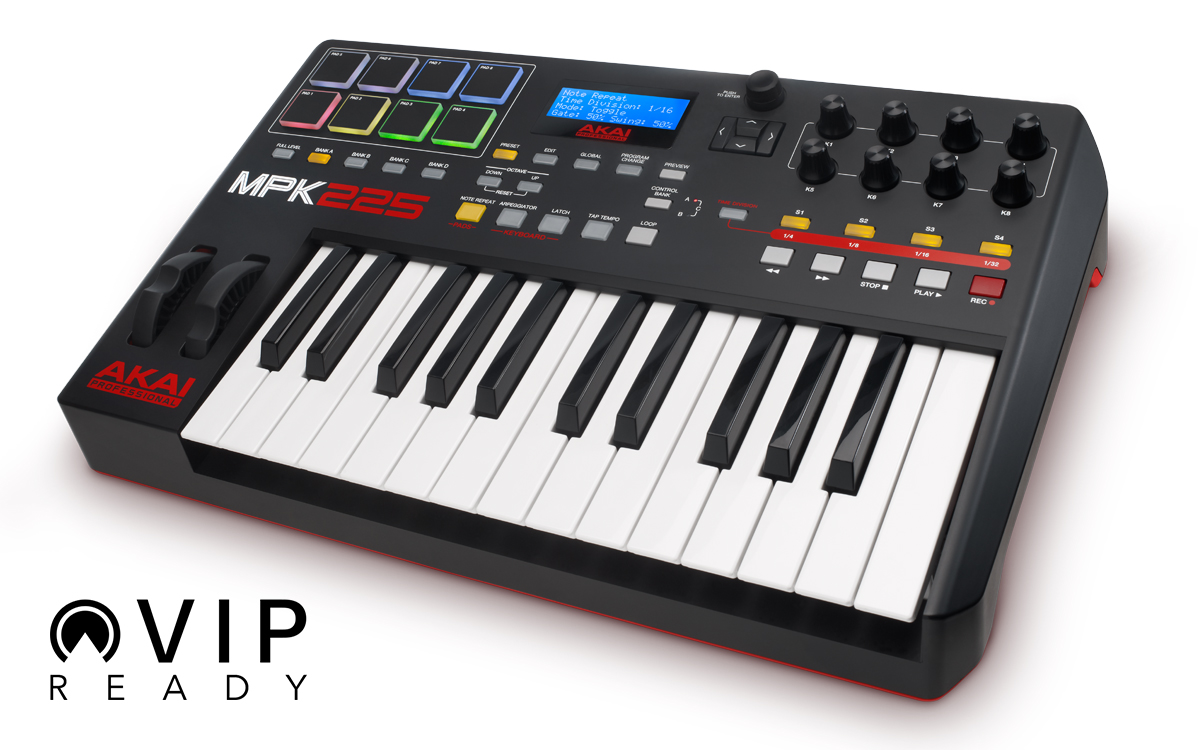 AKAI PRO MPK225 SUPPORTATA DA VIRTUAL INSTRUMENT PLAYER VIP 3.0