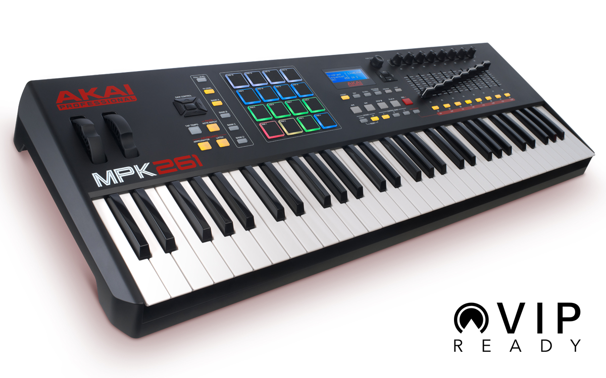 AKAI PRO MP261 COMPATIBILE CON VIP VIRTUAL INSTRUMENT PLAYER VST