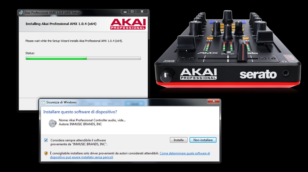 Installazione driver PC Windows per Akai Professional AMX