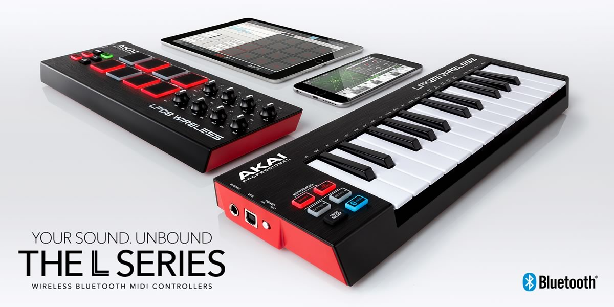 Akai Professional LPD8 Wireless e LPK25 Wireless distributi in Italia dalla Eko Music Group