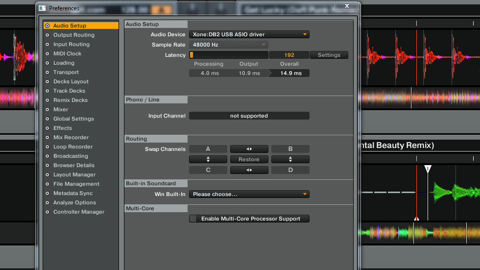 Configurazione di un mixer XONE:DB come interfaccia audio per il software Native Instruments Traktor