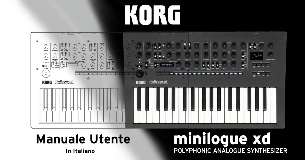 Disponibile il manuale in italiano per Korg minilogue xd