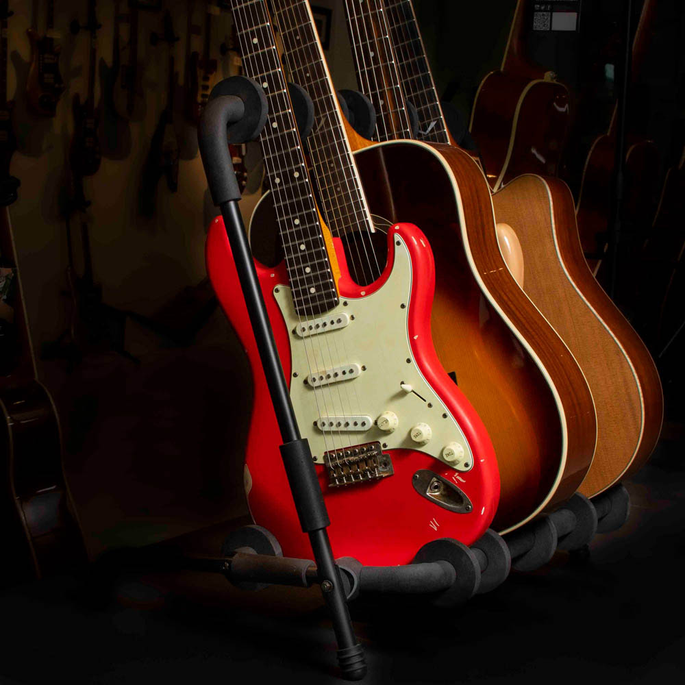 quik lok multiple universal guitar stand