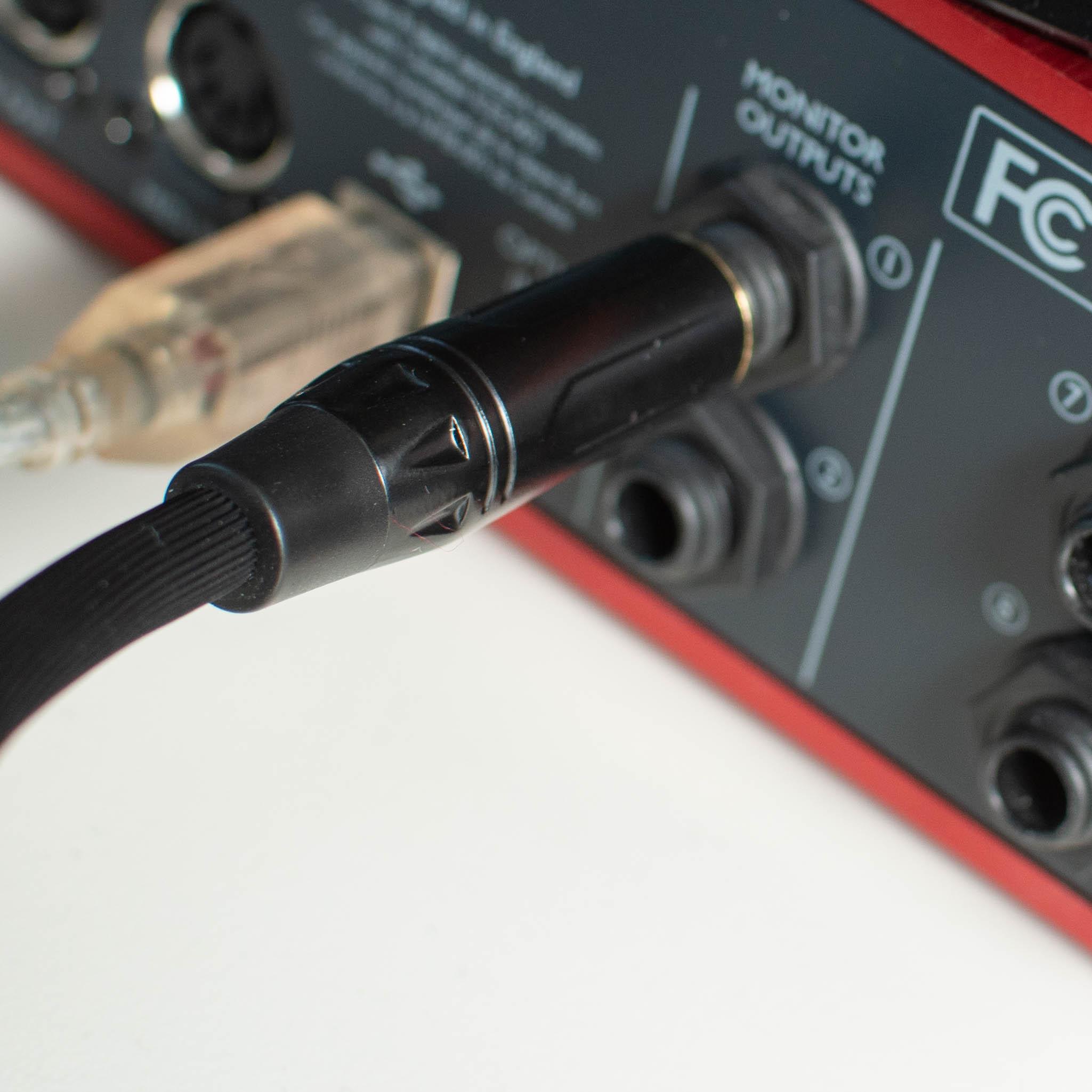 cavo quik lok just bilanciato scheda audio focusrite scarlett