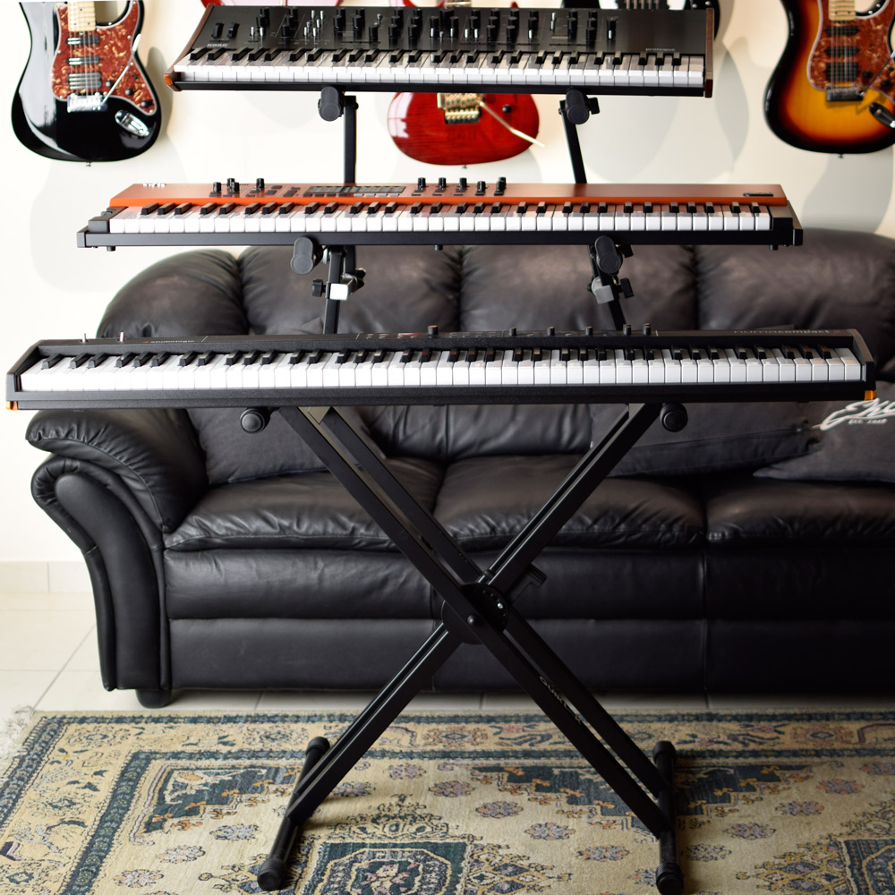 triple-tier keyboard stand quik lok ql 723
