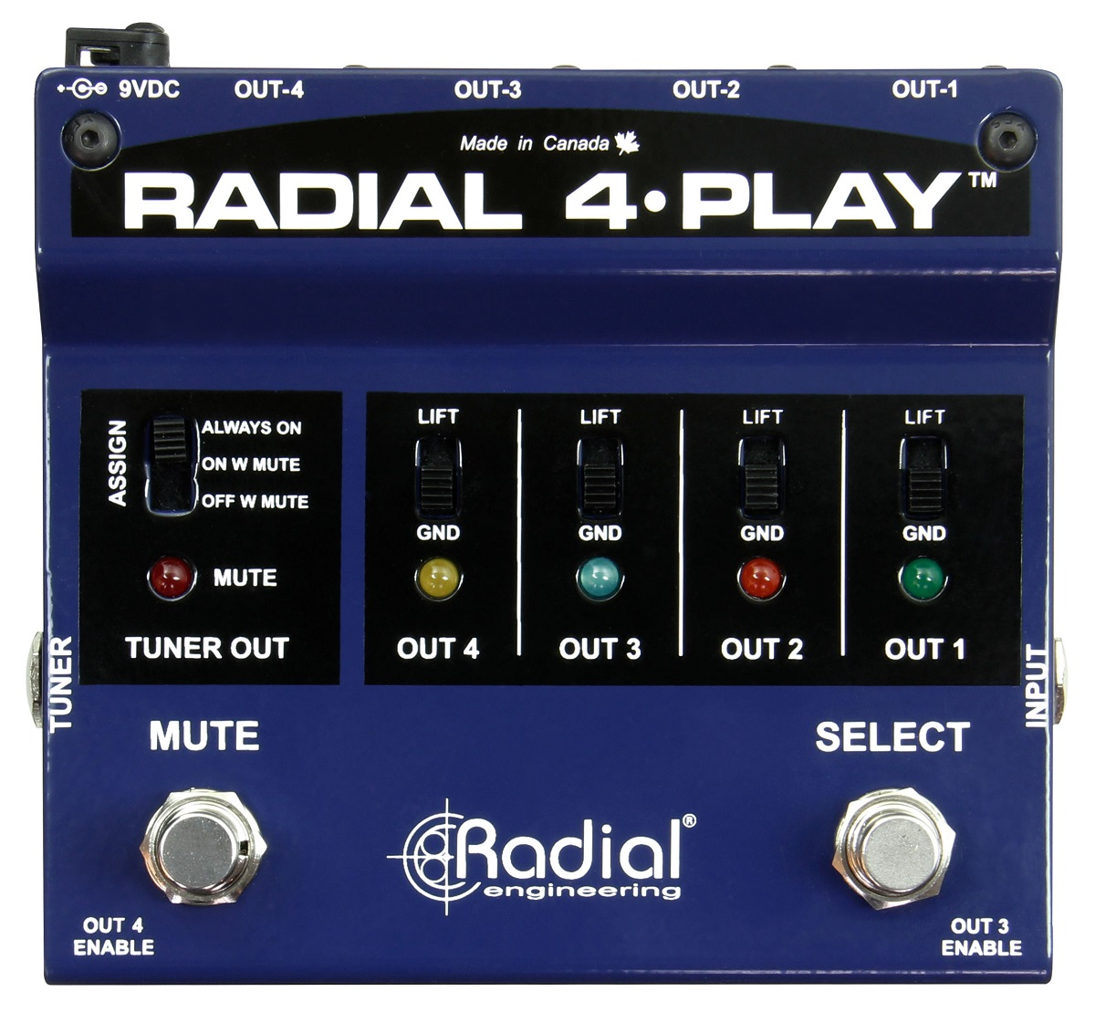 Pedale per chitarra Radial 4-Play