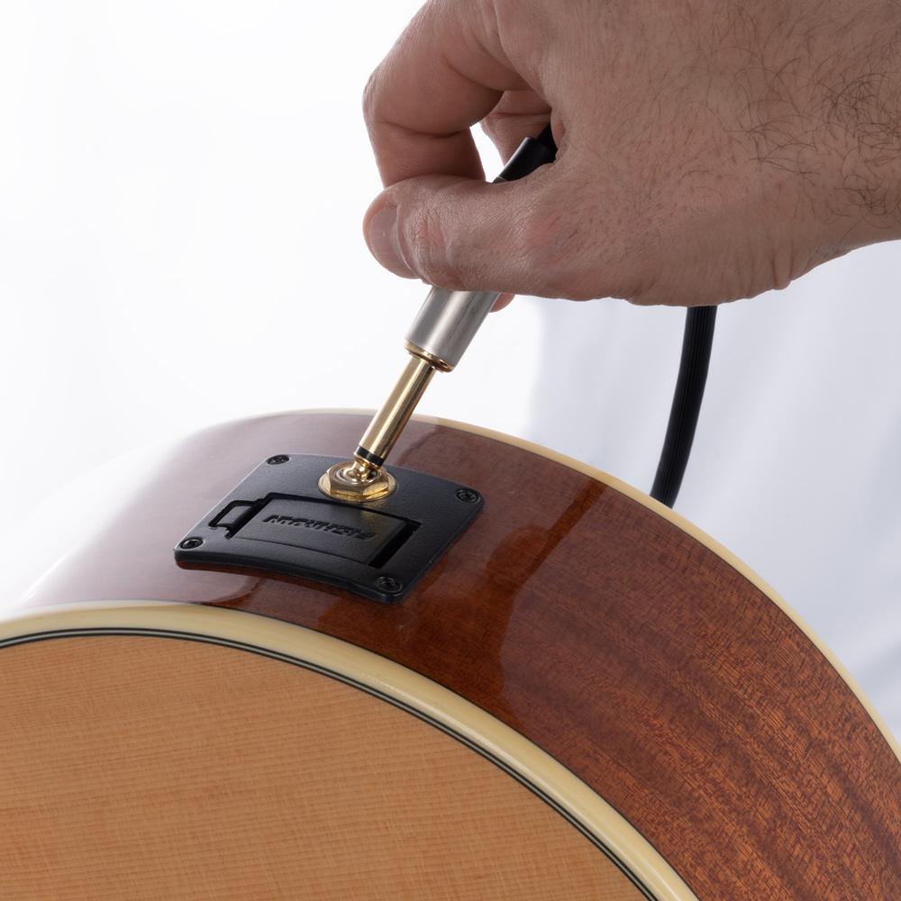 cavo quik lok chitarra acustica mogano eko preamplificatore fishman