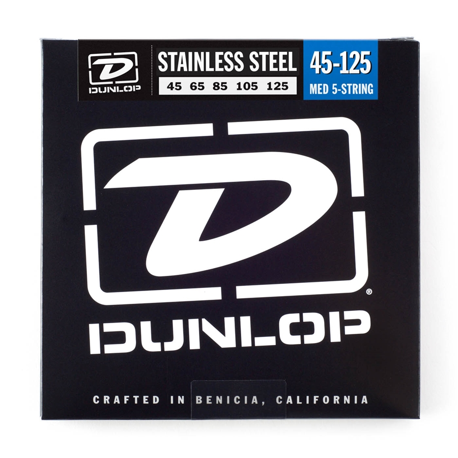 Dunlop DBS45125 Stainless Steel, Medium Set/5