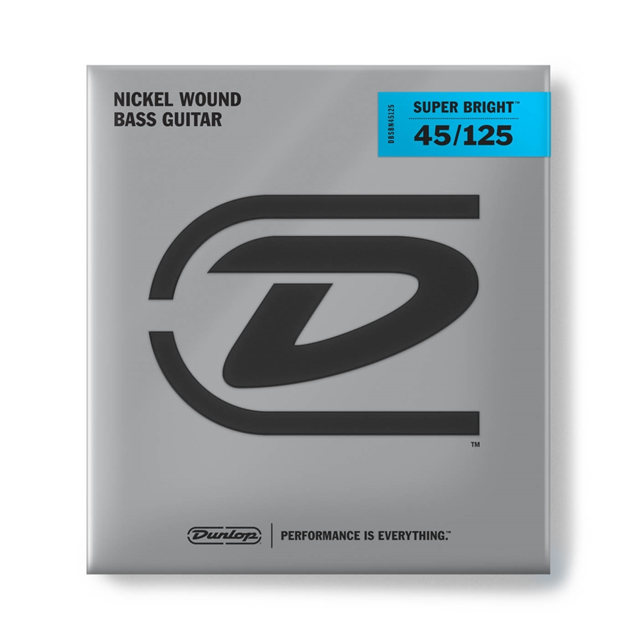 Dunlop DBSBN45125 Super Bright Nickel Wound, Medium Set/5