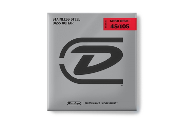 Dunlop DBSBS45105 Super Bright Stainless Steel, Medium Set/4