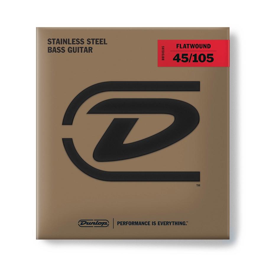 Dunlop DBFS45105 Corde Flatwound per basso 45-105 Medium-4/Set