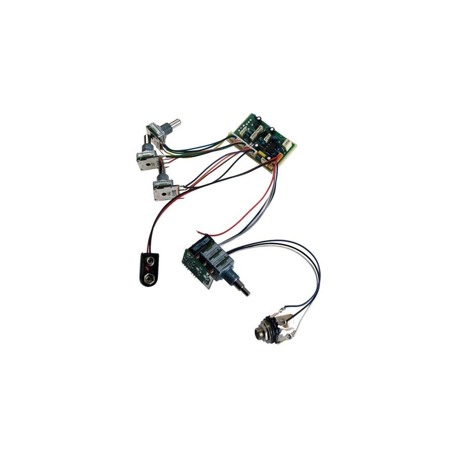 Warwick M 60055 MEC 3-way electronic FNA & Streamer JM 4 Pot Layout + Mini Switch