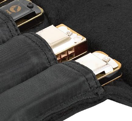 Rockbag RB10300B Borsa per armonica diatonica per 4 pcs.