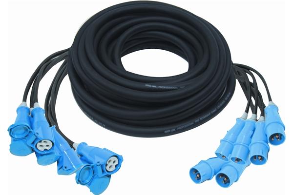 Quik Lok S/1309-20 Cavo prolunga di alimentazione elettrica a 6 canali. 20 metri