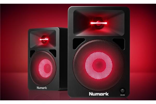 Numark N-Wave 580L: CASSE AMPLIFICATE CON EFFETTI LUCE INTEGRATI