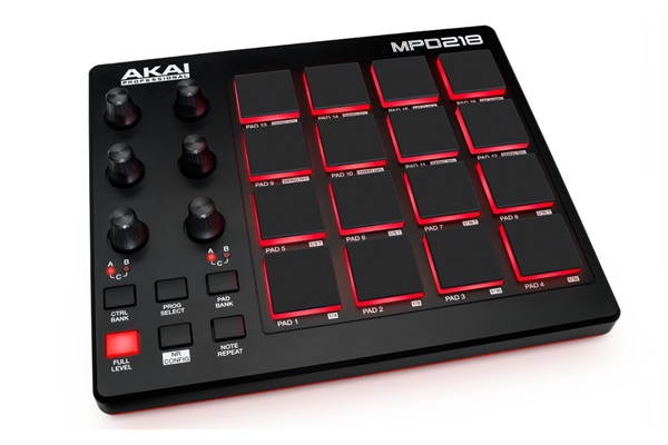 Akai Professional MPD218 - Dj Equipment Tastiere Midi USB